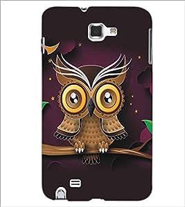 PRINTSWAG OWL Designer Back Cover Case for SAMSUNG GALAXY NOTE 1 N7000