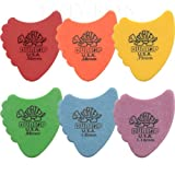 12 x Dunlop Tortex Fins Guitar Picks / Plectrums - 2 Of Each Size In A Handy Pick Tin