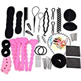 eshion Hair Styling Accessory Maker Pads Hairpins Clip Donut Tool Hair Kit