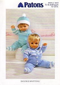 Patons Dolls Clothes Pram Set Knitting Pattern 5093 ...