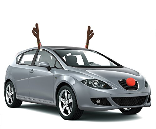 KOVOT Reindeer Car Set with Jingle Bells