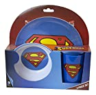 Superman Children's Blue Melamine Plate, Bowl and Cup Set