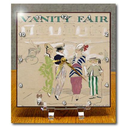 Dc_78691_1 Taiche - Vintage Posters - Vanity Fair - Vanity Fair- Caricature, Women, Fashion, Gossip, Celebrities, Magazine, Historical, Dog - Desk Clocks - 6X6 Desk Clock front-279236