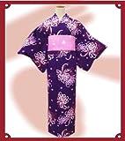 ブランド浴衣&帯セットJAM紫地乱菊
