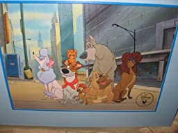 1996 Oliver and Company Disney Lithograph