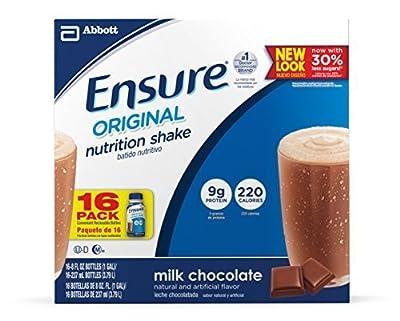 Ensure Bottles, Milk Chocolate, 8-Ounces, 30 Count Bottles , Ensure-wh3f