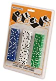 48 Dice Dispenser Game Casino Accessory Bulk Pack, Red/White/Blue
