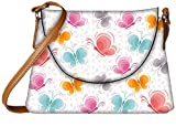 Snoogg Colourful Butterflies Designer Womens Carry Around Sling Bags