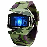Evana Digital Rocket Led Fighter Army Military Green Stealth Bracelet Watch , Watches for Men Boys (get free TTL/Trusttel Branded mobile pouch)