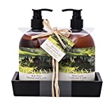 Upper Canada Soap Brompton and Langley Exotic Retreats Hand/Body Wash and Lotion Caddy Gift Set, Tuscany