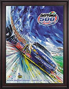 NASCAR Framed 36 x 48 Daytona 500 Program Print Race Year: 49th Annual - 2007 by Mounted Memories