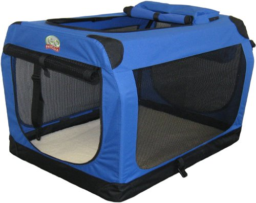 Go Pet Club Soft Crate For Pets, 40-Inch, Blue