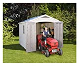Keter Factor Apex Shed (8 x 11ft) and an Accompanying CLOSED CELL FOAM SLEEPING BAG/MAT - The Plastic Garden Shed is a Two-Door Entry Shed is Built to Last. An Outdoor Storage Space with Plenty of Room --- See Description of the Closed Cell Foam Sleeping