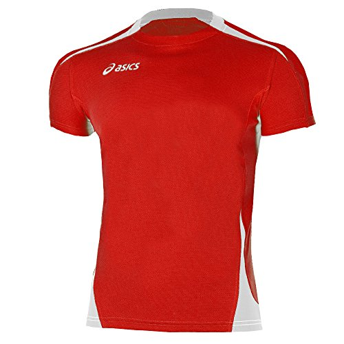 Asics - T-Shirt Carl - Maglia maniche corte - Rossa Bianca - Uomo S