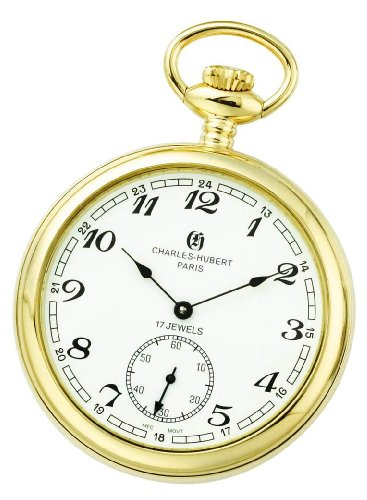 Charles-hubert, Paris Charles-hubert Paris Gold-plated Open Face Mechanical Pocket Watch
