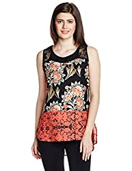 Mineral Women's Body Blouse Shirt (PU16A-520 WT_Coral Floral_X-Small)