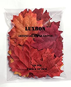 150 Pieces Of Artificial Autumn Fall Maple Leaves Autumn Colors