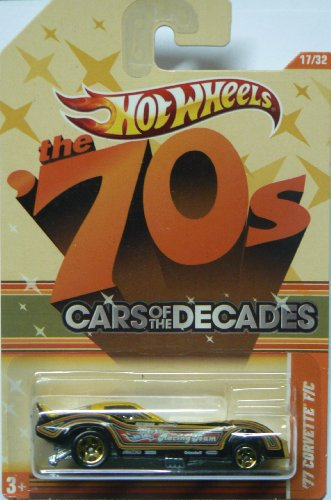 Hot Wheels the '70s Cars of the Decades '77 Corvette F/C 17/32 - 1