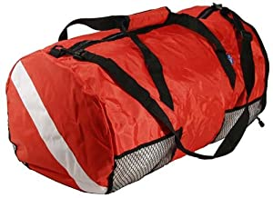 New ScubaMax Dive Flag Mesh Duffel Bag for Scuba Divers and Snorkelers - Folds into Disk Shape