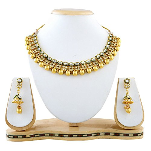 REEVA NECKLACE SET WITH AUSTRIAN DIAMOND AND KUNDAN