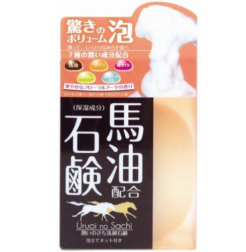 マックス 馬油配合潤いのさち洗顔石鹸 80g