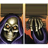 "WOWindow Posters Grim Reaper Halloween Window Decoration Two 34.5""x60"" backlit posters"