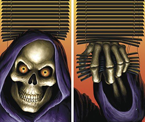 WOWindow Posters Grim Reaper Halloween Window Decoration Two 34.5