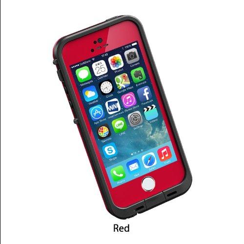 日本正規代理店品・保証付LIFEPROOF 防水防塵耐衝撃ケース LifeProof fre iPhone5/5s Red レッド 2101-05