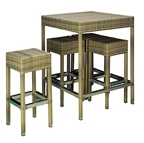 hochtisch set maui elfenbein garten tisch hocker stuhl. Black Bedroom Furniture Sets. Home Design Ideas