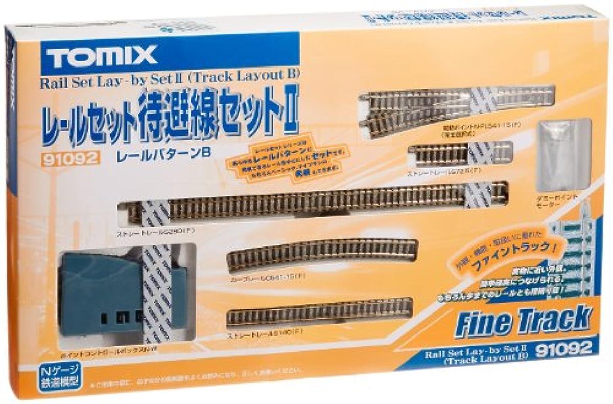 [해외] TOMIX N게이지 레일 세트 대피선 세트II B패턴 91092 철도 모형 레일 세트-91092