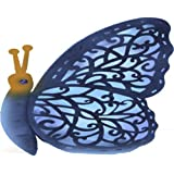 Garden Meadow R1099COLB Solar Crazy Critter Butterfly Yard Art with Blue Light, 12-Inch