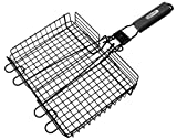 GrillPro 24876 Deluxe Non Stick Broiler Basket with Detachable Handle Outdoor, Home, Garden, Supply, Maintenance