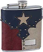 6oz Leather quotTexas Pridequot Hip Flask Free Personalization
