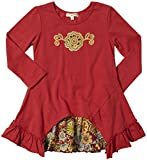Mimi & Maggie Little Girls' Visiting Neighbors Dress (Toddler/Kid) - Red