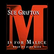 M Is for Malice: Kinsey Millhone Series, Book 13 | Sue Grafton