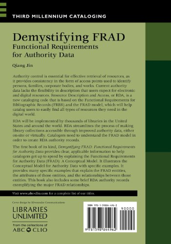 Demystifying FRAD: Functional Requirements for Authority Data (Third Millennium Cataloging)