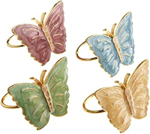 Lenox Butterfly Meadow Napkin Rings, Set of 4, Multi