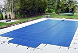 18'x36' Blue Mesh - Rectangle Inground Safety Pool Cover - 15 Year Warranty - 18 ft x 36 ft In Ground Winter Cover