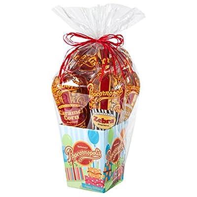 Popcornopolis® Gourmet Popcorn 5-cone Birthday Gift Basket - COS