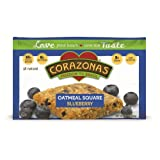 CORAZONAS Oatmeal Squares, Blueberry, 1.76-Ounce (Pack of 12) ~ Corazonas