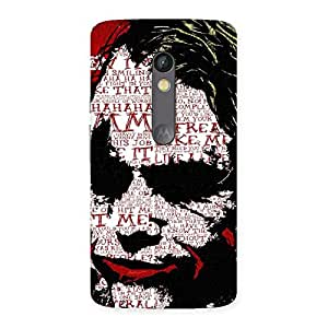 Impressive Insane Writing Back Case Cover for Moto X Play