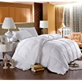 LUXURIOUS 800 Thread Count HUNGARIAN GOOSE DOWN Comforter - Queen Size, 750 Fill Power, 50 oz Fill Weight, 100% Egyptian Cotton Cover