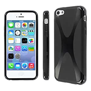 MPERO Collection Apple iPhone 5C Flexible X-Shape Poly Skin TPU Black Case