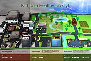 "Augmented Reality Poster - Path to a Healthy Lifestyle by Saagara - 24"" x 36"""