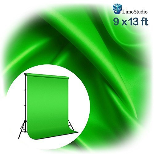 LimoStudio-9-x-13ft-Green-Fabricated-Chromakey-Backdrop-Background-Screen-for-Photo-Video-Photography-Studio-AGG1846