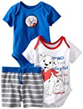 Disney Baby-Boys Newborn 2 Bodysuits and Short Set