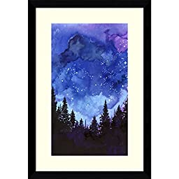 Framed Art Print, \'Let\'s Go See The Stars\' by Jessica Durrant: Outer Size 11 x 16\