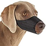 "Guardian Gear  Lined Nylon Muzzles - Versatile Muzzles for Dogs - 7"" Snout, Size 3, Black"