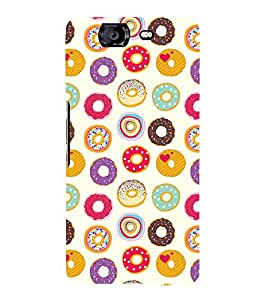 Circle Pattern 3D Hard Polycarbonate Designer Back Case Cover for Micromax Canvas Knight A350