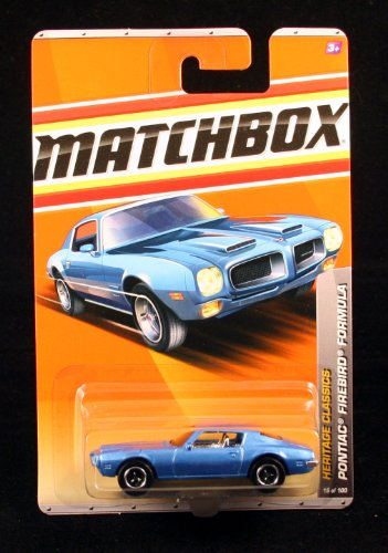 Pontiac Firebird Formula * Blue * Heritage Classics Series (#2 Of 12) Matchbox 2011 Basic Die-Cast Vehicle (#15 Of 100) front-186114